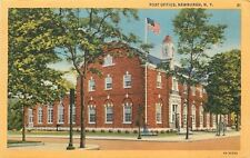 Newburgh New York~Door Open to Post Office~Colonial Architecture 1934 Postcard