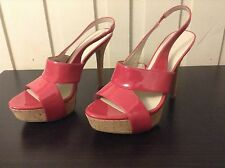 Nine West Pink Slingback Strappy Heels Womens Shoes Size 8 1/2 8.5 M