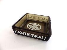 objet bistrot bar Cendrier ashtray en verre fumé KANTERBRAU carré 9 cm