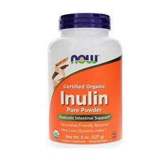 Inulina, polvo, 227ml (227g) Now Foods, orgánico, pro-bióticos