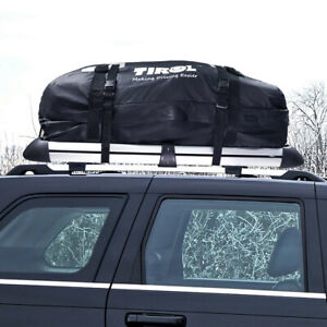 Waterproof Cargo Roof Bag Luggage Vinyl Truck SUV Car Roof Top Storage Black