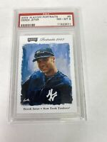 Derek Jeter 2003 Playoff Portraits #5 New York Yankees PSA NM - MT 8