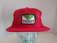 Vtg Thimet Logo Patch All Mesh Hat Cap SnapBack K-Brand Farm Ag Usa Made Trucker