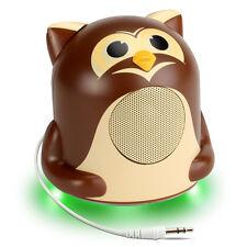 GOgroove Groove Pal Jr. Owl Portable Media Speaker w/ LED Base & 3.5mm Jack