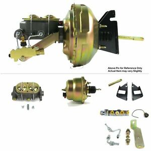 "1973-87 Chevy Truck FW Mount Power 7"" Dual Brake Booster Kit LS  Swap Disc/Disc"