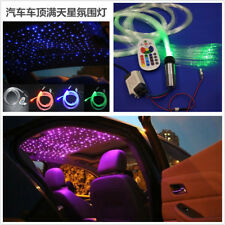 Hyun Cool Car 3W RGB LED Fiber Optic Star Ceiling Light Kit 200Pc 0.75mm Optical