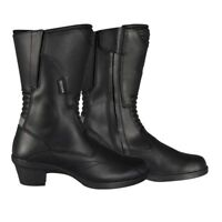 Oxford Valkyrie Leather Waterproof Touring Ladies Motorcycle Bike Boots - Black