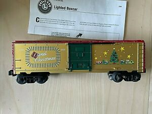 O Gauge 3-Rail Lionel 6-26706 Lionel Gold Christmas Box Car With Lights #9700