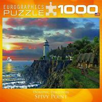 EUROGRAPHICS JIGSAW PUZZLE SPIVY POINT DOMINIC DAVIDSON 1000 PCS LIGHTHOUSE