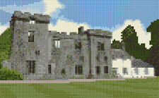 "Armadale Castle / Ruins - Scottish Mini Cross Stitch Kit 8"" x 5"" - 14 Count Aida"