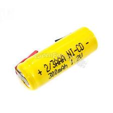 10 pcs 2/3 AAA 2/3AAA Ni-Cd 300mAh 1.2V Rechargeable Battery With Tab Yellow