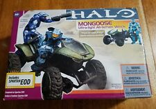 Halo 3 Mongoose & Cyan Spartan EOD Vehicle Figure Box set McFarlane