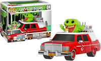 FUNKO POP VINYL RIDES GHOSTBUSTERS ECTO 1 RED WITH SLIMER SDCC 2016 EXCLUSIVE