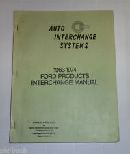 Datenhandbuch Ford Modelljahre 1963 - 1974 Änderungen der Ford Marken