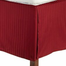 Burgundy Stripe - Tailored Bed skirts US 1000 Thread Count 100% Cotton