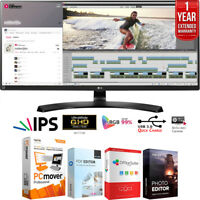 """LG 34"""" 21:9 UltraWide 3440 x 1440 FreeSync IPS Monitor + Extended Warranty Pack"""