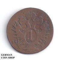 1 Kreuzer 1800 C Prag - Kaiser Franz II. - RDR Österreich Austria Kupfer