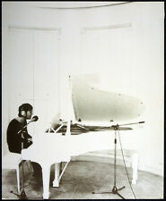 THE BEATLES POSTER PAGE JOHN LENNON AT PIANO - IMAGINE ALBUM ERA . F18