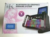 Easy Karaoke EKS213/4-BT Bluetooth Machine, built in stereo speakers LED lights