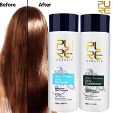 2Pcs 100ml PURC Shampoo Conditioner Keratin Repair Hair Treatment Smoothing Kit