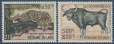 LAOS PA N°72/73** Animaux: Panthère, buffle, TB, 1970, Panther, buffalo MNH