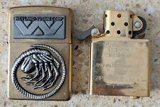 More details for original zippo brass lighter - customised for aliens movie - used