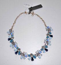 NWT - J Crew Factory Crystal Waves Gemstone Statement Necklace, Soft Aqua