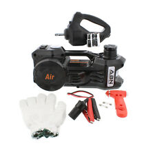 ABN Electric 3-Ton Car Hydraulic Floor Jack Tire Inflator Gauge Impact Wrench