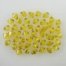 48 4mm Swarovski crystal bicone 5301 Lt Topaz beads