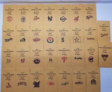 2016 Strat-O-Matic Baseball Printed Storage Envelopes with Stats and Team Logo