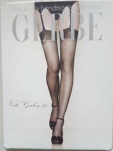 Bas nylon voile GERBE ,GERLON15, beige ,Taille 4. Real RHT nylon stockings