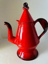E11483 Vintage Poppytrail /'Red Rooster/' Dark Orange and Black Coffee Pot