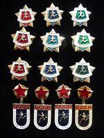 Set of 13 USSR Soviet Badge  Sport Military Instructor Warrior  Athlete Army