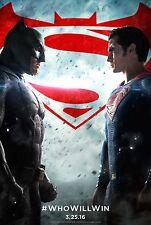 Batman v Superman: Dawn of Justice Original DS Advance Poster 27x40 NEW 2016