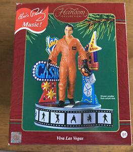 Carlton Cards 2003 Elvis Presley Viva Las Vegas Musical Christmas Ornament w/Box