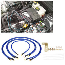 Universal Auto Car Earth Cable System Ground/Grounding Wire Kit 5 Point Blue UK