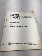 RCA Electronic Data Processing System Specs for Service Routine Manual