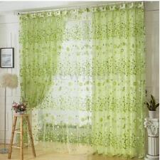 Rideaux verts à motif Floral pour la maison