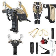 Hunting Fishing Slingshot Kit Archery Powerful Catapult High Velocity Sling Bow