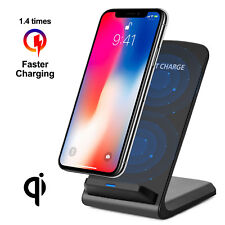 Qi Wireless Fast Charger Charging Pad Stand Dock Samsung Note 8/S8+ iPhone 8 X