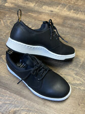 DR MARTENS SOLARIS SNEAKER AIR WAIR SMOOTH BLACK LEATHER COMFORT SHOES Sz 4 NEW