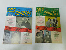 Lot of 2 Folk and Country Songs Magazine July & November 1957 Hank Williams