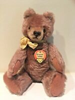 "OLD Steiff ""Original Teddy"" ~ Button & Chest Tag ~ VTG 1959-66 (#5325,02)  9.5"""