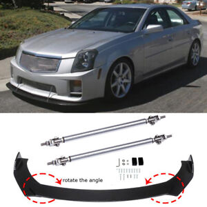 For Cadillac CTS CTS-V Front Bumper Lip Body Kit Spoiler Splitter + Strut Rods A