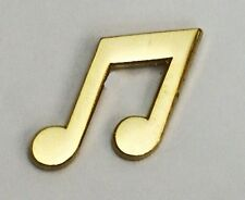 Metal Enamel Pin Badge Brooch Musical Notes Gold Musician Musical Music Player