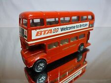 CORGI TOYS BUS LONDON TRANSPORT ROUTEMASTER- BTA - L12.5cm GOOD CONDITION