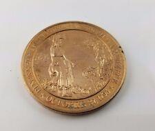 Pinckney's Treaty Signed Mississippi Solid Bronze Medal 44mm Franklin Mint
