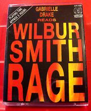 Wilbur Smith Rage 2-Tape Audio Book Gabrielle Drake Courtney Adventure