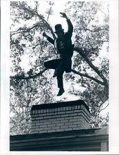 1980 Airborne Chimney Sweep Performs Last Step Dance Columbus GA Press Photo