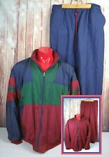 Vintage Athco Mens Sz. Xl Reversible Track Suit Windbreaker 80s 90s Color Block